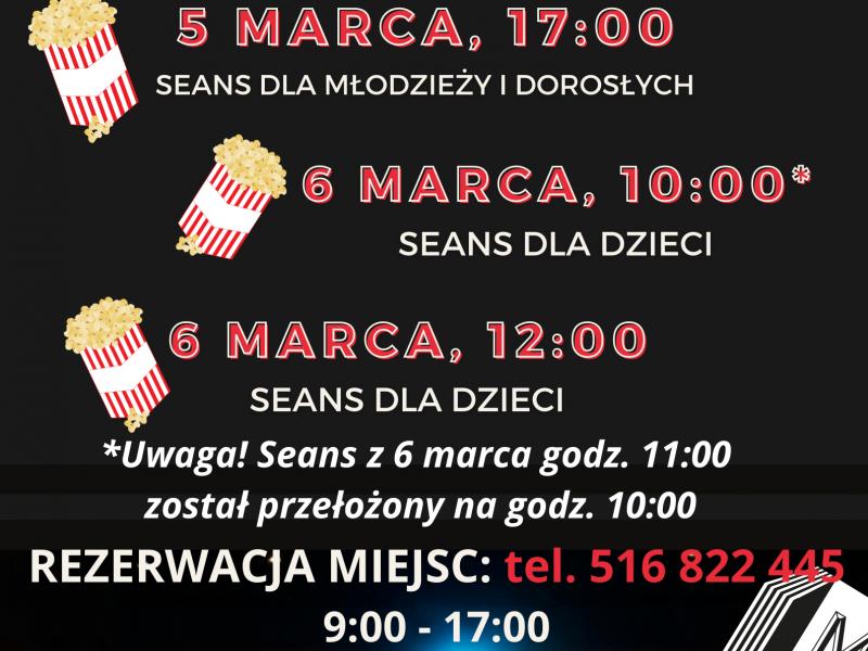 Seanse filmowe 5-6 marca
